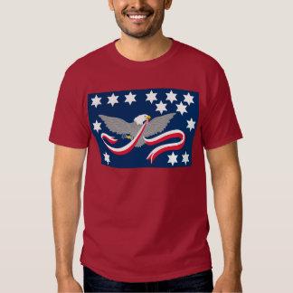 Camisetas de la bandera de la rebelión del whisky playera