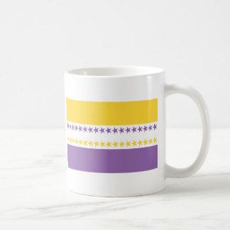 Camisetas de la bandera de las derechas de las muj taza de café