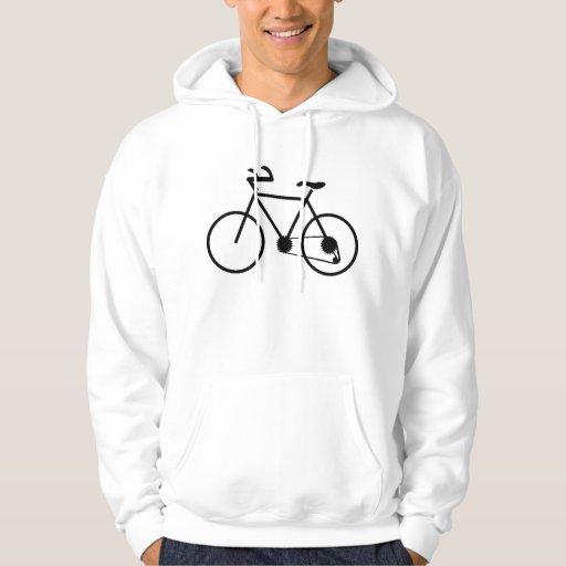Camisetas de la bicicleta suéter con capucha