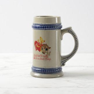 Camisetas de la cabra y mercancía de la cabra jarra de cerveza