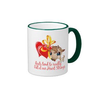 Camisetas de la cabra y mercancía de la cabra taza a dos colores