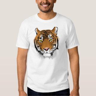 Camisetas de la cara del tigre poleras