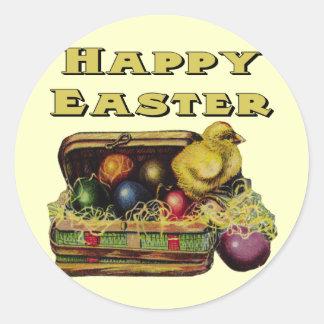 Camisetas de la cesta de Pascua y regalos de Pascu Pegatinas Redondas