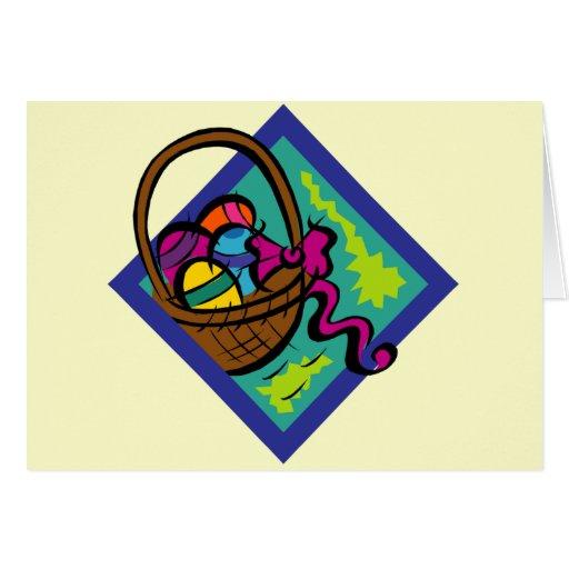 Camisetas de la cesta de Pascua y regalos de Tarjeta De Felicitación
