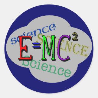 Camisetas de la ciencia de los niños y regalos de pegatina redonda