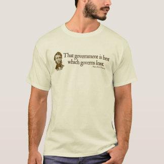 Camisetas de la cita del gobierno de Thoreau