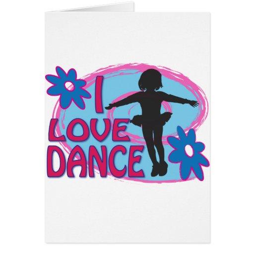 Camisetas de la danza, regalos tarjeta de felicitación
