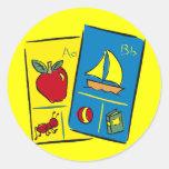 Camisetas de la escuela de los niños y regalos de pegatina redonda