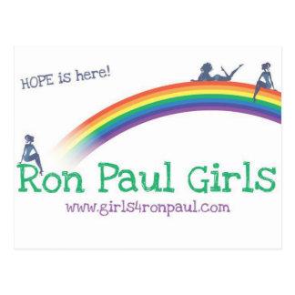 Camisetas de la esperanza de los chicas de Ron Pau Postal