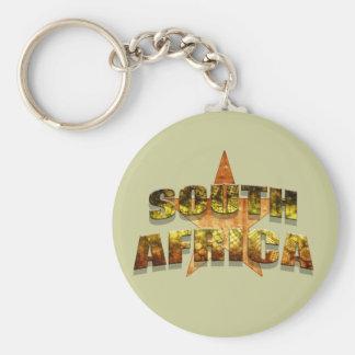 Camisetas de la estrella de Suráfrica y regalos su Llavero Redondo Tipo Pin