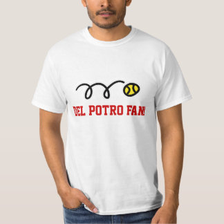 Camisetas de la fan de tenis de Del Potro para las Poleras