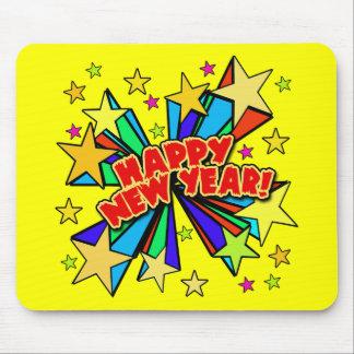 Camisetas de la Feliz Año Nuevo, Steins de la cerv Alfombrillas De Ratón