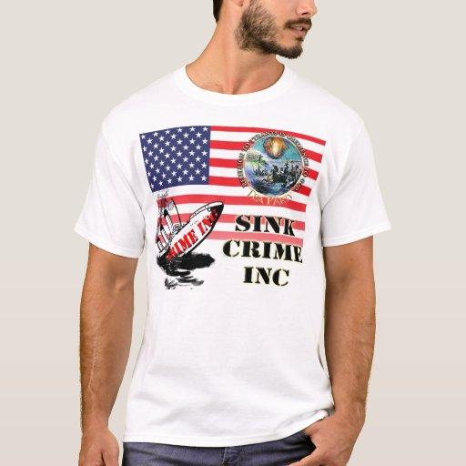 Camisetas de la fiesta del té del crimen inc.