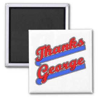 Camisetas de la fuente del béisbol de George de la Imán Cuadrado