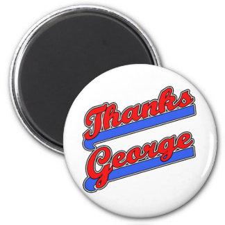 Camisetas de la fuente del béisbol de George de la Imán Redondo 5 Cm