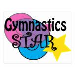 Camisetas de la gimnasia para los gimnastas tarjeta postal