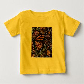Camisetas de la juventud del ADORNO de la MARIPOSA Polera