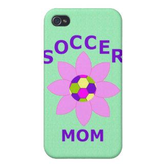 Camisetas de la mamá del fútbol y productos del re iPhone 4/4S funda