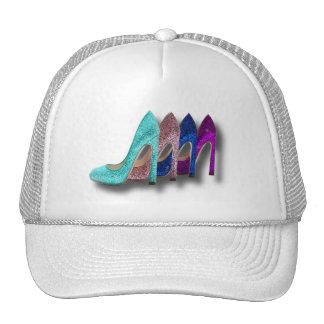Camisetas de la moda de los zapatos del tacón alto gorro de camionero