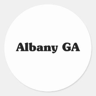 Camisetas de la obra clásica de Albany GA Etiqueta Redonda