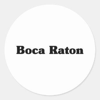 Camisetas de la obra clásica de Boca Raton Etiqueta Redonda