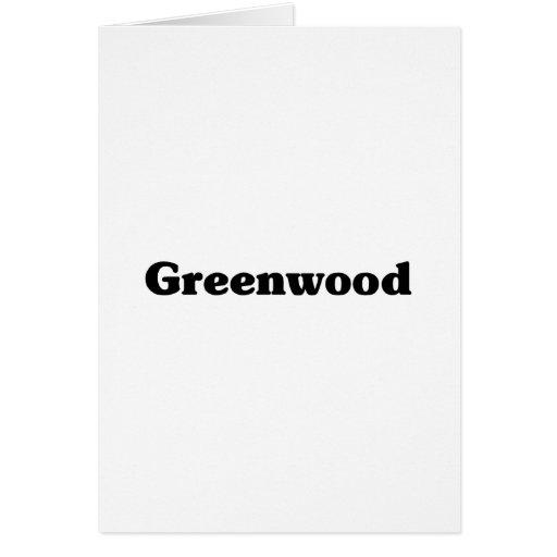 Camisetas de la obra clásica de Bosque verde Tarjetas