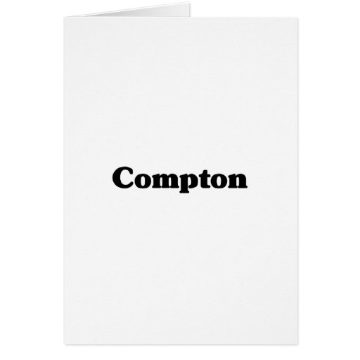 Camisetas de la obra clásica de Compton Tarjeta De Felicitación