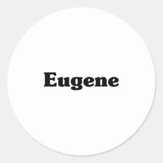Camisetas de la obra clásica de Eugene Etiqueta Redonda