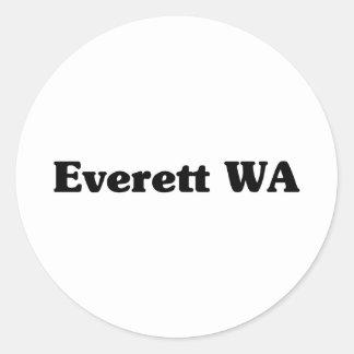 Camisetas de la obra clásica de Everett Pegatinas Redondas