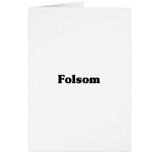 Camisetas de la obra clásica de Folsom Tarjeta De Felicitación