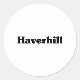 Camisetas de la obra clásica de Haverhill Etiqueta Redonda