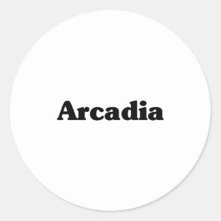 Camisetas de la obra clásica de la Arcadia Pegatinas Redondas