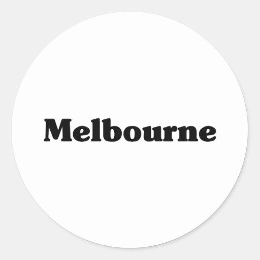 Camisetas de la obra clásica de Melbourne Etiqueta Redonda