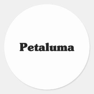 Camisetas de la obra clásica de Petaluma Pegatina Redonda