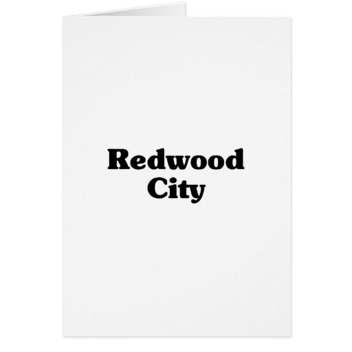 Camisetas de la obra clásica de Redwood City Tarjeton