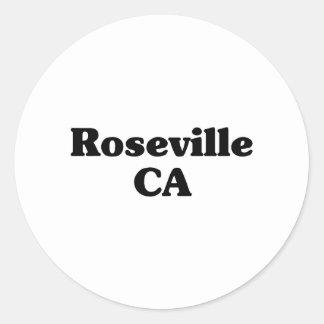 Camisetas de la obra clásica de Roseville Etiqueta Redonda