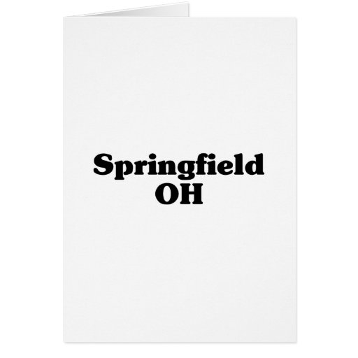 Camisetas de la obra clásica de Springfield Tarjeton