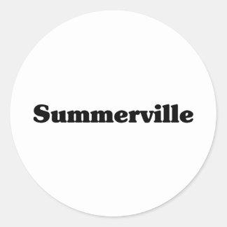 Camisetas de la obra clásica de Summerville Pegatinas Redondas