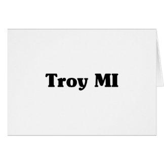 Camisetas de la obra clásica de Troy Tarjetas