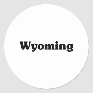 Camisetas de la obra clásica de Wyoming Etiqueta Redonda
