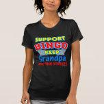 Camisetas de la oscuridad del abuelo del bingo de playeras