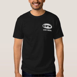 Camisetas de la oscuridad del logotipo de CPW Playera
