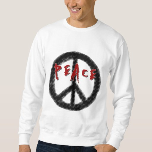 Camisetas de la paz y regalos negros y rojos