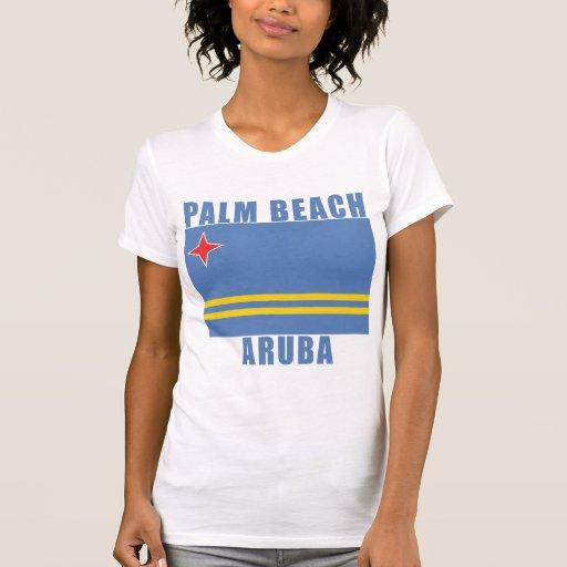 Camisetas de la playa de ARUBA del PALM BEACH, reg