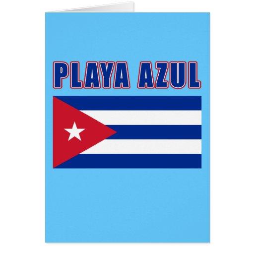 Camisetas de la playa de PLAYA AZUL Cuba, regalos Tarjeta De Felicitación