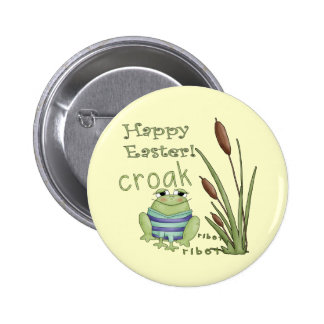 Camisetas de la rana de Pascua y regalos de Pascua Pin Redondo 5 Cm
