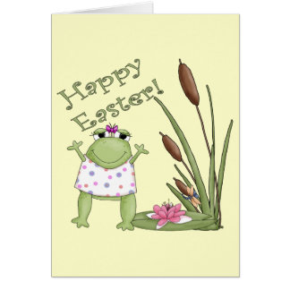 Camisetas de la rana de Pascua y regalos de Pascua Tarjetas