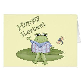 Camisetas de la rana de Pascua y regalos de Pascua Felicitaciones