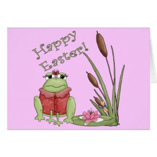 Camisetas de la rana de Pascua y regalos de Pascua Felicitación