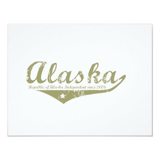 Camisetas de la revolución de Alaska Invitación 10,8 X 13,9 Cm